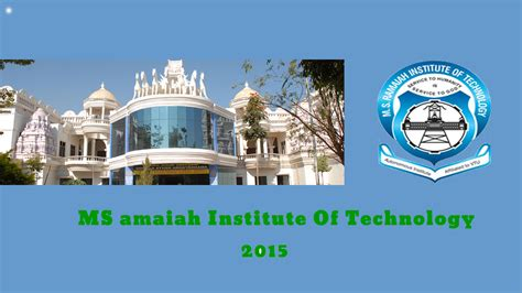 Ms Ramaiah Institute Of Technology Fee Structure For Mba by M S Ramaiah Institute Of Technology Fee Structure For Nri