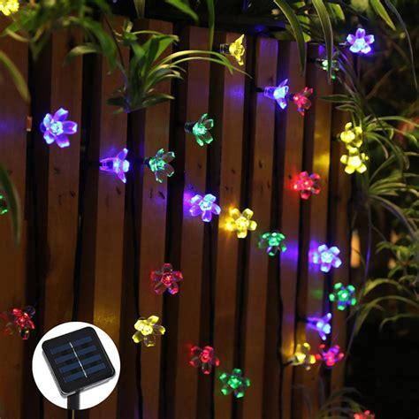 flower lights string 50 leds flower solar led string lights