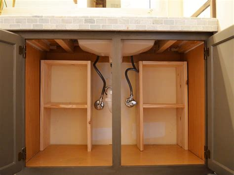 under cabinet shelving bathroom a step by step guide for creating storage under the