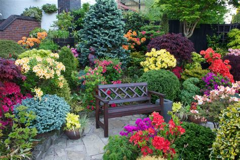 pictures of beautiful gardens for small homes seat amongst the azalea flowers four seasons garden most