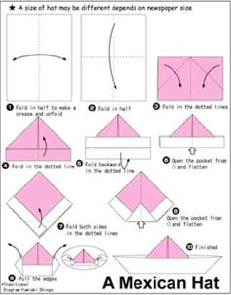 Steps To Make A Paper Hat - origami on origami hearts origami