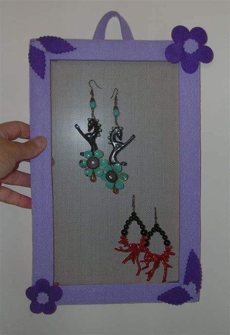 scatola porta orecchini fai da te cornice porta orecchini gioielli orecchini di le due