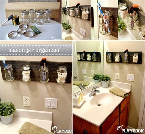Diy Mason Jar Bathroom Organizer Diy Craft Projects