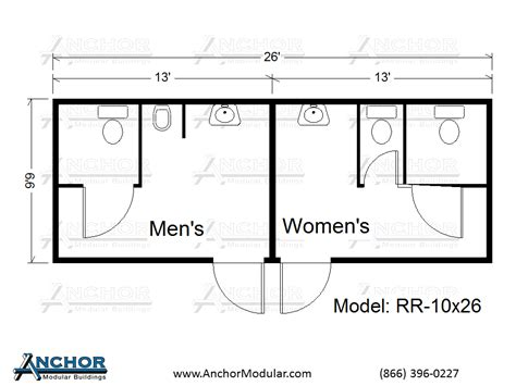 Restroom Floor Plan | modular restroom and bathroom floor plans