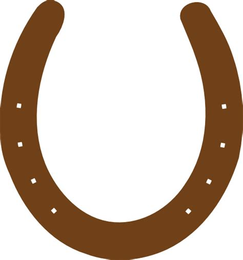 horseshoe template brown horseshoe clip at clker vector clip