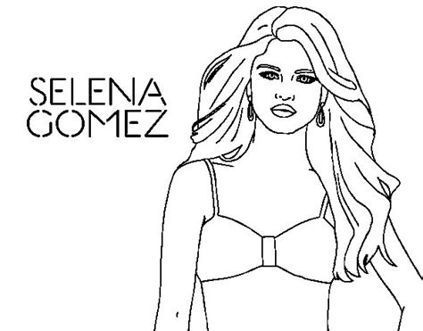 selena gomez coloring page coloringcrew com
