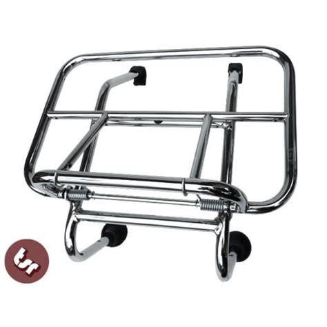 Rak Vespa Vespa Chrome Front Rack Carrier Gt Gts 125 200 250 300 From The Scooter Republic Uk
