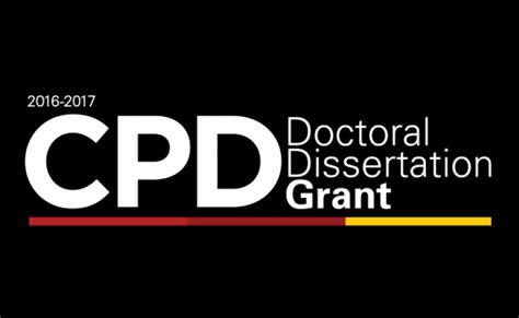 doctoral dissertation grants cpd awards 2016 2017 doctoral dissertation grants usc