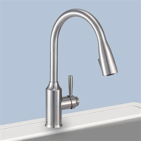 glacier bay kitchen faucets glacier bay fp4a4080ss invee 8 in pulldown kitchen faucet stainless steel pppab avi depot much