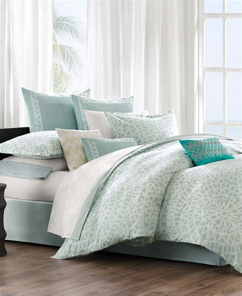 Comforter Cover Set Echo Bedding Mykonos Comforter And Duvet From Macys