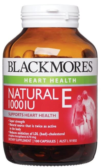 Vitamin E Dan C Blackmores Blackmores E Vitamin E Ldl Cholesterol Cholesterol