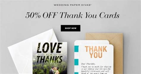Wedding Paper Divas Thank You Cards by 50 Wedding Paper Divas Thank You Cards 2399990