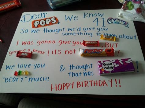 9 Best Birthday Images On Pinterest Candy Cards Happy Children Ideas For Dads