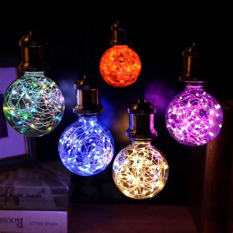 led lamp holiday lights rgb led bulb christmas string light indoor fairy light