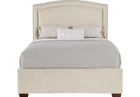 cream upholstered bed loden cream 3 pc king upholstered bed beds white
