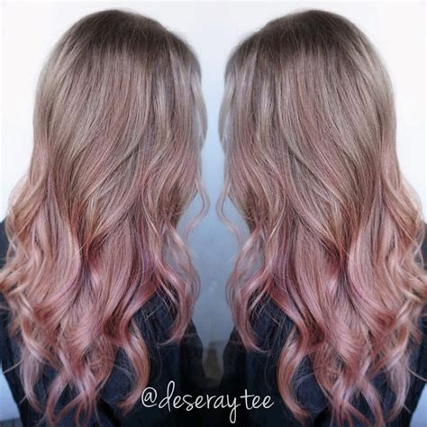Bloude Dusty Pink dusty pink balayage search hair 2