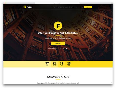 events layout website 30 awesome wordpress themes for conference and event 2018