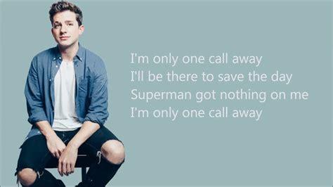 charlie puth one call away musicpleer charlie puth one call away lyrics youtube