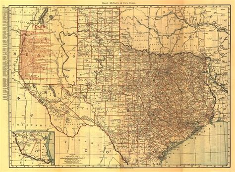 map of texas railroads 24x36 vintage reproduction railroad rail historic map texas 1900 ebay