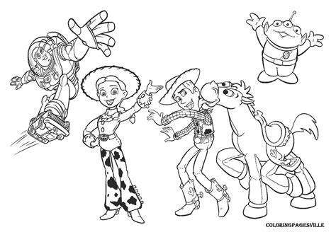 Free Coloring Pages Of Toy Story The Aliens Story Coloring Page