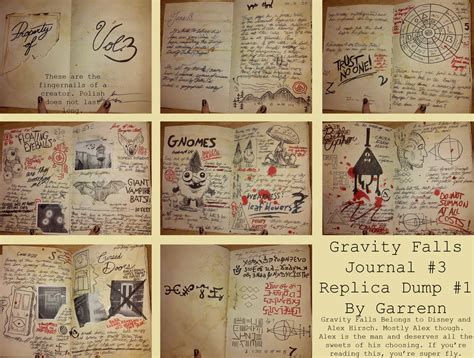 printable journal pages gravity falls wip journal 3 replica