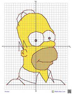 Four quadrant graphing worksheets with characters the kids will know