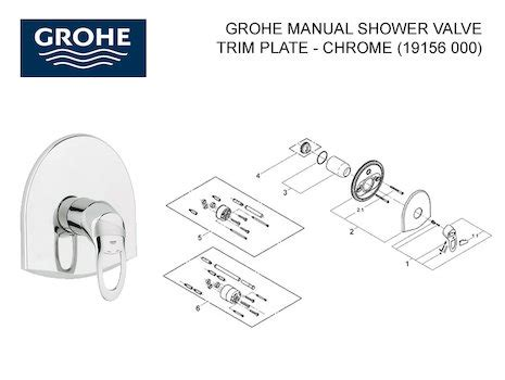Shower Faucet Trim Plate by Grohe Aquadimmer Flow Cartridge 3000 47364000 Grohe 3000