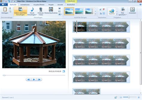 windows live movie maker audio tutorial tutorial live movie maker video bearbeiten