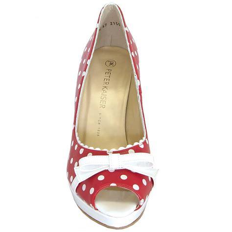 polka dot high heel shoes kaiser and white polka dot high heel