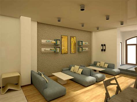 rendering  student lounge  aua residence hall