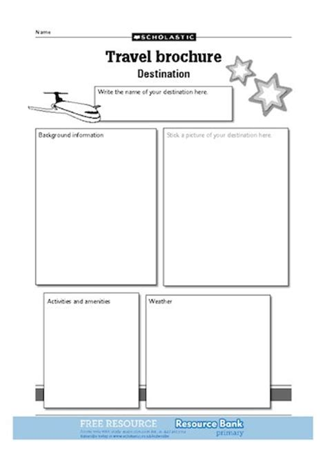 travel brochure template ks2 free leaflet template search results