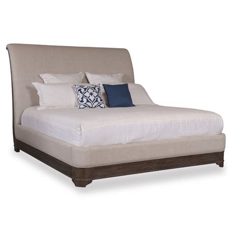 platform sleigh bed a r t furniture st germain california king upholstered