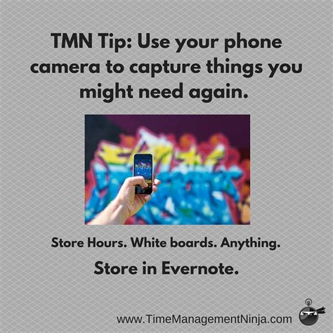 Things You Might Want To by Tmn Tip Use Your Phone To Capture Details Time