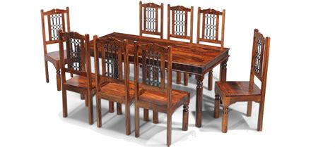 colonial style table ls jali sheesham 180 cm thakat dining table and 8 chairs