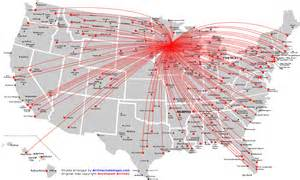 northwest airlines route map america from