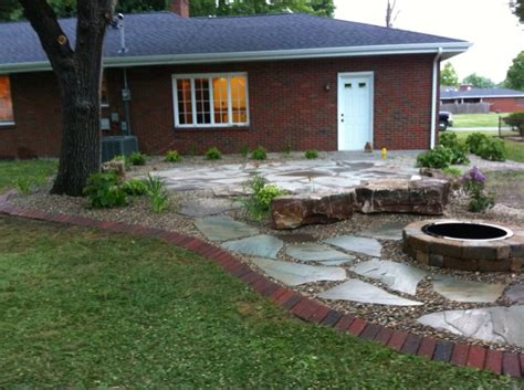 backyard flagstone patio ideas before and after backyards landscaping network
