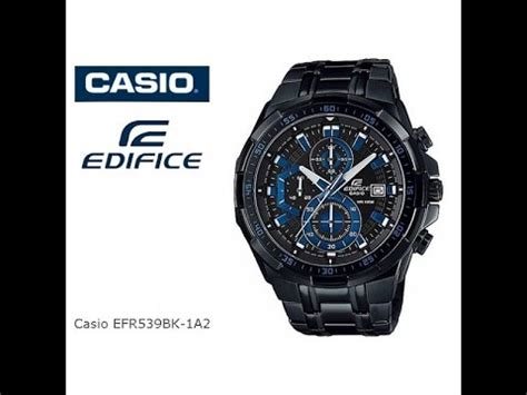 Casio Edifice Efr 539 Black Blue jewelry watches watches s casio edifice chronograph black s efr