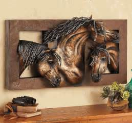 Glassware Cabinet Sweet Freedom 3 D Horse Wall Sculpture