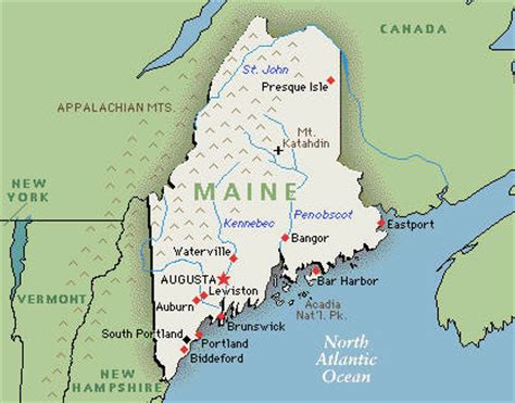 usa map augusta maine america map
