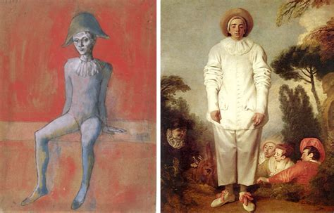 picasso paintings clowns epph picasso s seated harlequin with background 1905