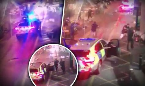 borough market stabbing cctv shows moment bridge terrorists by