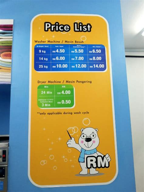 Harga The Shop Wash harga cuci baju self service doby cleaning price list sz