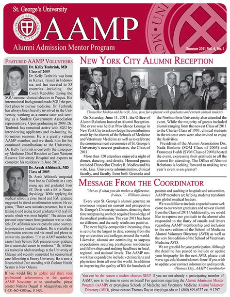 Uwt Mba And Summer News Letter by A Newsletter Summer 2011 St George S