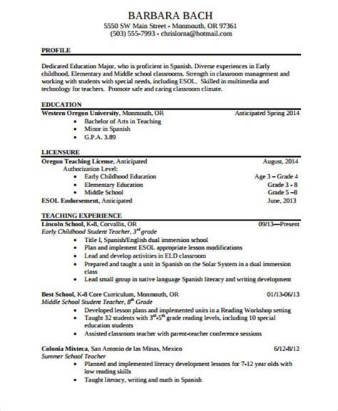 teacher resume sle 28 free word pdf documents 1000