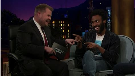 childish gambino james corden donald glover sings quot kiss from a rose quot with james corden