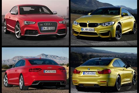 audi vs bmw which is better photo comparison bmw m4 vs audi rs5 which is the better