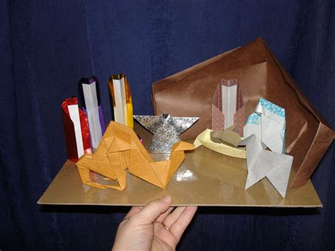 How To Make An Origami Nativity - origami nativity by pandaraoke on deviantart