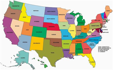 big map of the usa state wise large color map of the usa whatsanswer