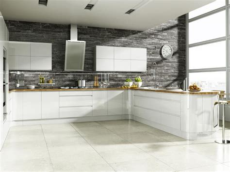 bright white kitchen cabinets welford handleless kitchen in bright white