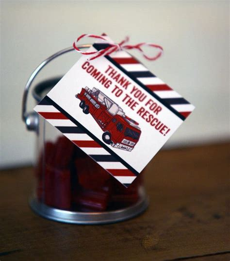 Speaking Of New Blogsan Unwedding For An Unbride In Dc by Truck Favor Tags Thank You Tags Firetruck Fireman